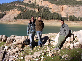 Picture of me with friends in Atlas Mountains